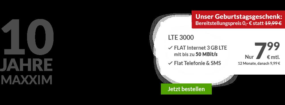maXXim: Günstige LTE Handytarife und Allnet Flat Handyvertrag