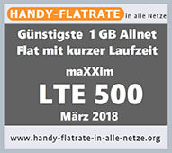LTE 500 Aktion - Handy-Flatrate-in-alle-Netze.org