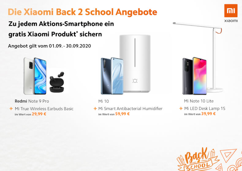 Xiaomi Back2School Promo